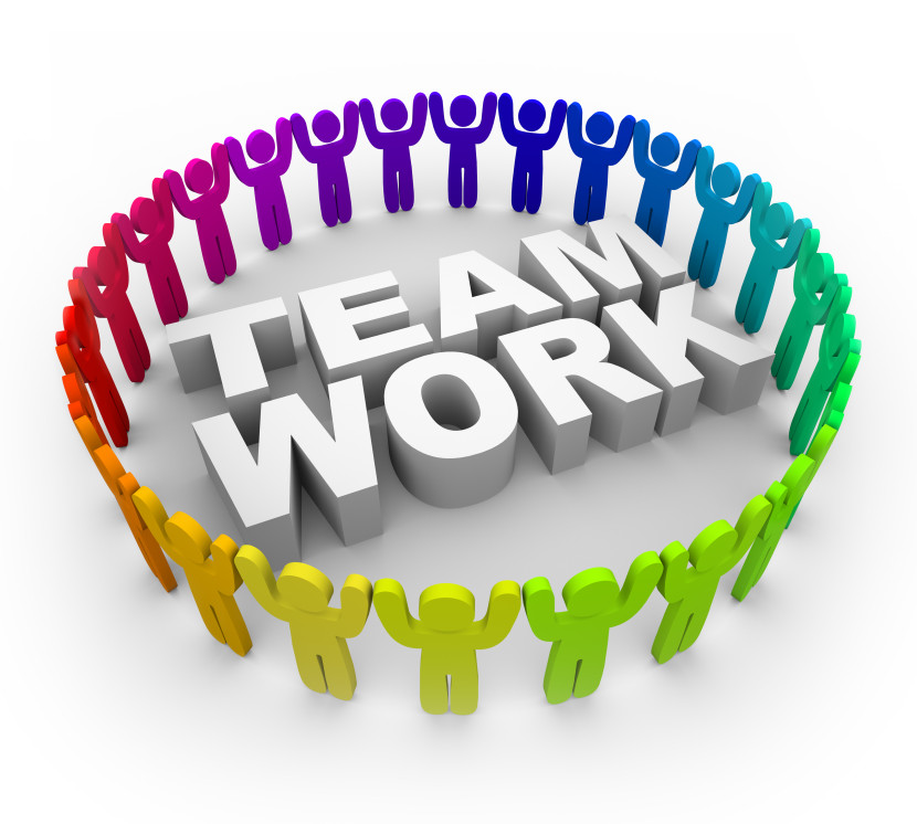 Management e Team teamwork prova tag